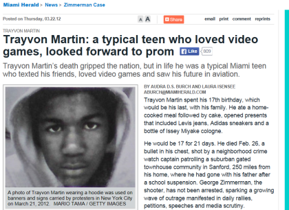 MiamiHeraldRealTrayvon
