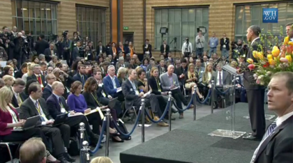 Obama Losing European Support? Gives Speech at Hague, Only One Person Applauds