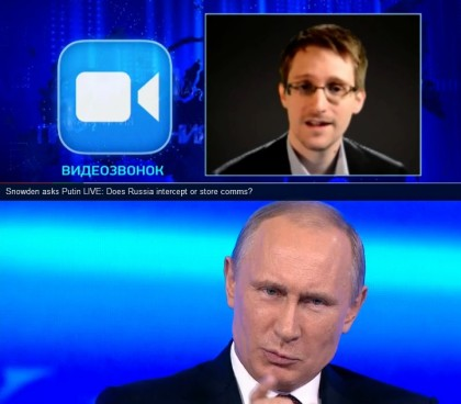 Video: Snowden Asks Putin About Russian Surveillance, Putin Claims Less than in USA
