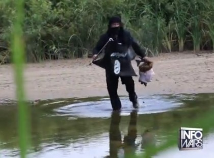 Can an ISIS Terrorist With an ISIS Flag Walk Into USA When the Border is on High Alert? YES
