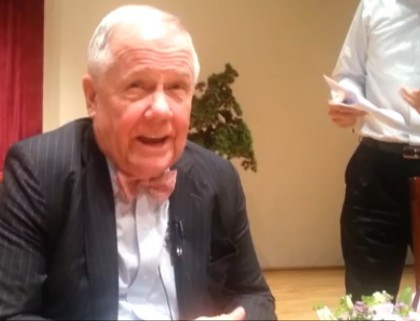 Jim Rogers Says Bonds are a Bubble, Will Crash, Interest Rates Will Go Up, in Video Today