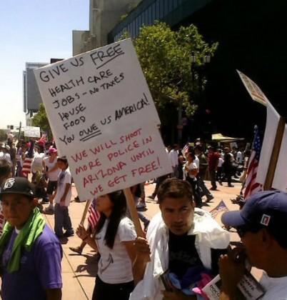 Illegals protesting 2