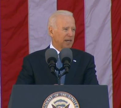 Biden Mistakes Number of Wounded in Iraq and Afghanistan by 47,000 at Arlington Veterans day Commemoration