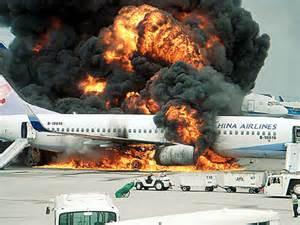 plane burning