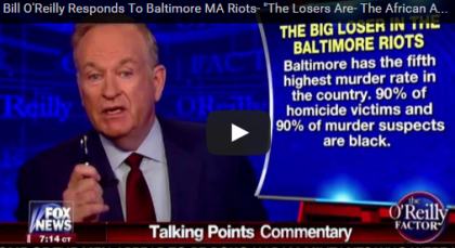 Bill O'Reilly Breaks Taboos About Race Again, Video