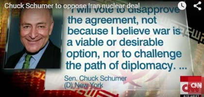 Marxist/Democrats Go After One Of Their Own Over Sen. Schumer's Rejection Of Obama/Iran Nuclear Deal, Video
