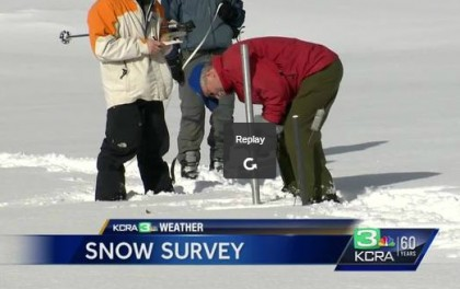 Survey reveals above average snowpack in California Sierra Mtns