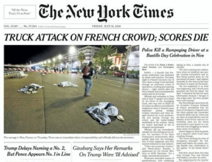 MEDIA BLAMES TRUCK, NOT TERRORISTS OR ISLAM, FOR NICE ATTACK!