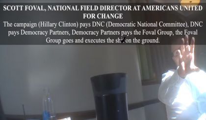 Clinton Campaign On Video Confesses To False Flag Operations To Cause Violence At Trump Campaigns, Project Veritas