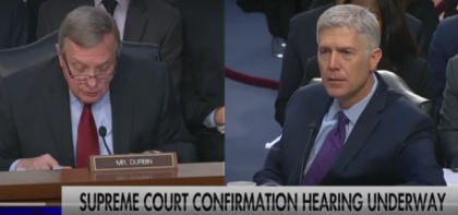Judge Gorsuch Revealed That Senator Dick Durbin Does Not Do His Homework, Video