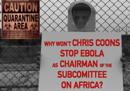 First Political Ad About Ebola Flights, Delaware Senate Race